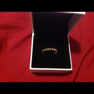 Pandora Gold Heart Link Ring